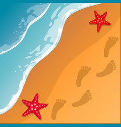 beach background sea shore the waves and sand vector image