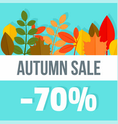 big autumn final sale background flat style vector image