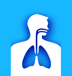 blue human lungs world health day medicine idea vector image