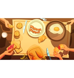 Breakfast Table Top View vector
