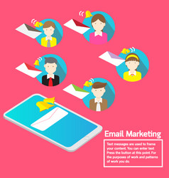 Business team concept smartphone notification vector