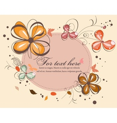 butterflies with floral vector image
