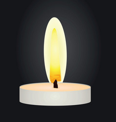 candle in the dark vector image