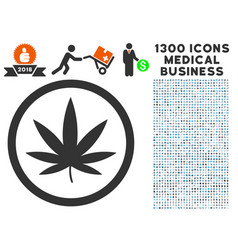 Cannabis icon with 1300 medical business icons vector