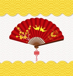 Chinese New Year Background with blossom and vector