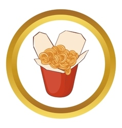 Chinese noodles box icon vector image