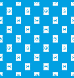 chips plastic bag pattern seamless blue vector image
