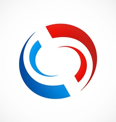 circle swirl abstract logo vector image