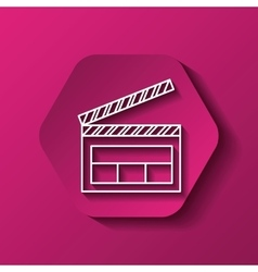 Clapboard icon image vector