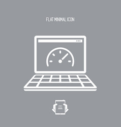 computer performance - flat minimal icon vector image