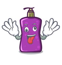 crazy shampo mascot cartoon style vector image
