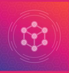 Cubic structure logo element vector