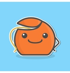 Cute cartoon dental floss vector