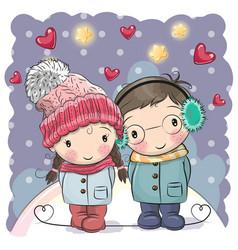 Cute winter vector