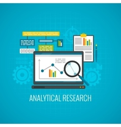 Data and analytical research icon vector