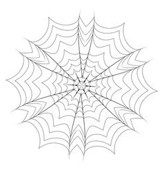 Decorative spider web vector