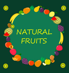 different kinds of fruits on a vector image