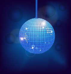 disco ball dance design vector image