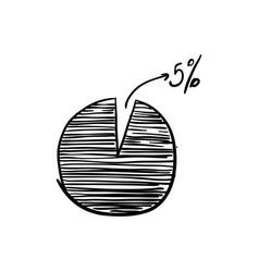 doodle business diagram vector image