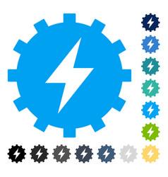 Electric energy gear icon vector