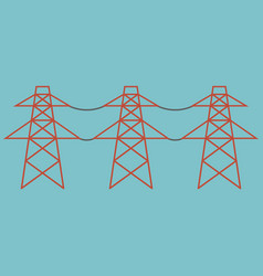 Electric towers vector