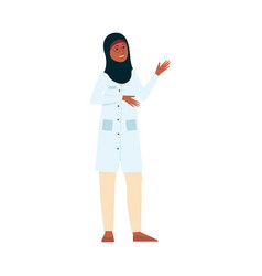 female doctor or nurse with medical uniform and vector image