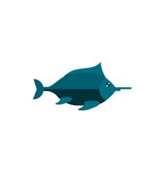 fish cartoon sea animal marine vector image