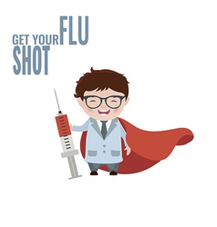 Get your flu shot vector