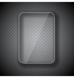 Glass Frame Rectangular Button on Checkered vector image
