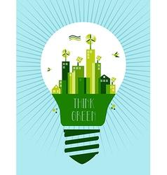 Go green city idea vector