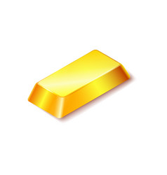 gold bar icon isolated on white background vector image