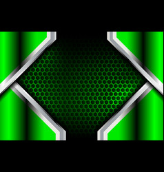 green abstract metal background vector image