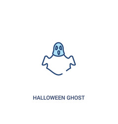 Halloween ghost concept 2 colored icon simple vector