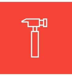 Hammer line icon vector image