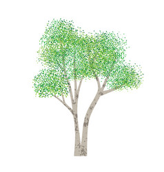 Hand drawn textured tree vector