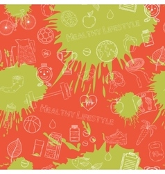 Healthy lifestyle white pattern vector image