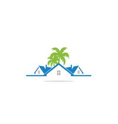 Home realty mansion company logo vector