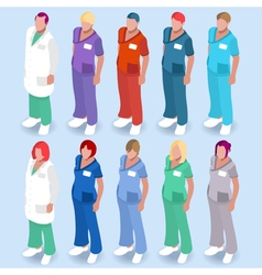 Hospital 14 People Isometric vector