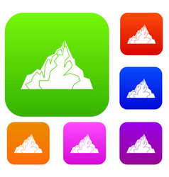 iceberg set color collection vector image