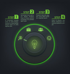 Interactive web infographics vector