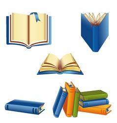 Knowledge book set vector
