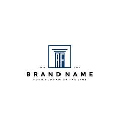 Letter af law logo design vector