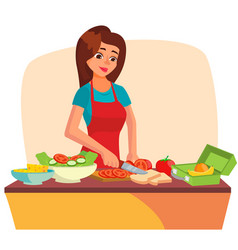 lunch box making a healthy school lunch vector image