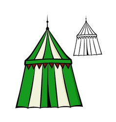 Medieval tent vector