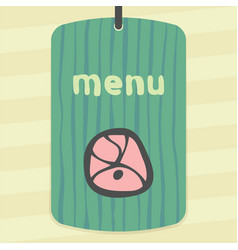 outline meat cutting icon modern infographic logo vector image