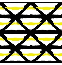 Painted Striped Yellow Black Pattern vector
