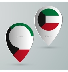 Paper of map marker for maps kuwait vector