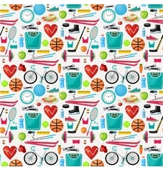 Pattern of a healthy lifestyle vector image