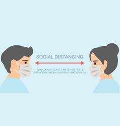 People keeping distance for infection risk and vector