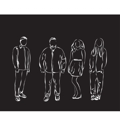 People sketch vector image